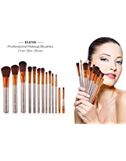Makeup Brushes Cosmetic 12 Pcs Professional Makeup Brush Set Premium Synthetic Foundation Powder Concealers Eye Shadows Lip Makeup Brush Set with a Delicate Case- Rose Golden