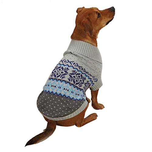 East Side Collection Acrylic Avalanche Dog Sweater, XX-Small, bluee