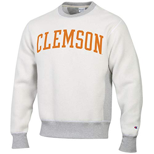 Champion Men's NCAA Inside Out Reverse Weave Crew Sweatshirt-Clemson Tigers-Large