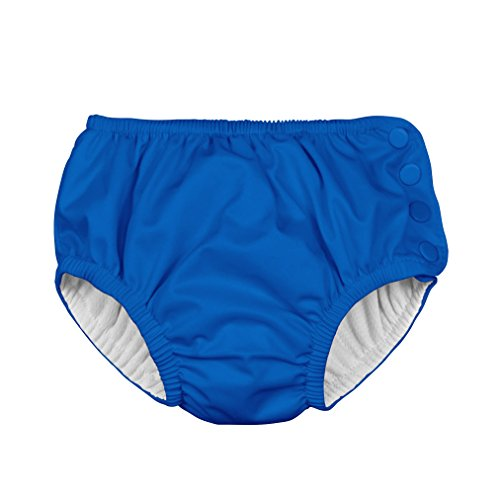 i play. Toddler Snap Reusable Absorbent Swim Diaper, Royal Blue, 2T-3T