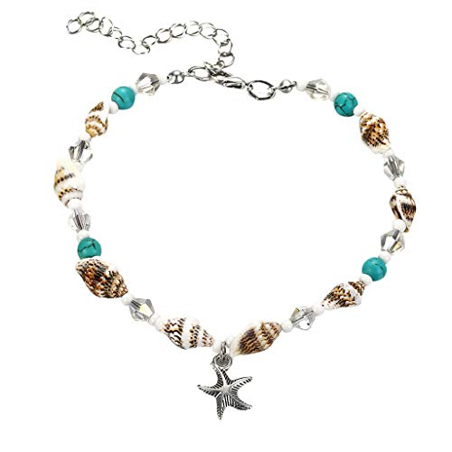 Deals Natural Cowrie Shell Anklet Bracelet Handmade Beach Foot Jewelry Hawaiian Style Adjustable for Women Unisex