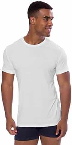 d4038f448 Texere Crew Neck Undershirt for Men - Luxury Shirt in Bamboo Viscose (Dexx)