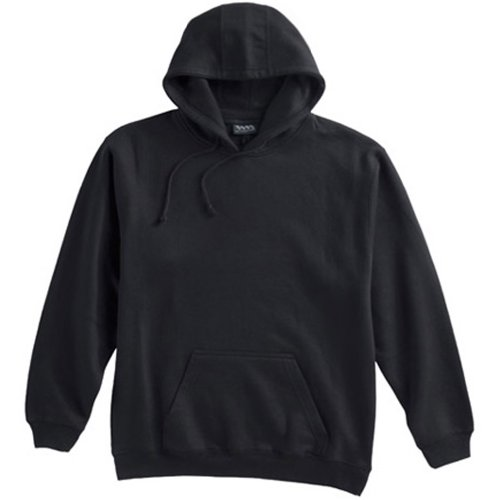 WHITE MOUNTAIN Pennant Mens Big and Tall Beefy Pullover Fleece Hoodie (Black (Panel Pennants)