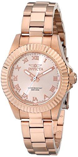 Invicta Women's 16763 Pro Diver Analog Display Swiss Quartz Rose Gold Watch
