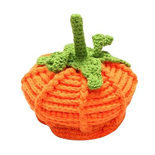 Memela Baby Hat, Newborn Unisex Baby Boys Girls Beanie Wool Pumpkin Knit Crochet Hats for Halloween Caps
