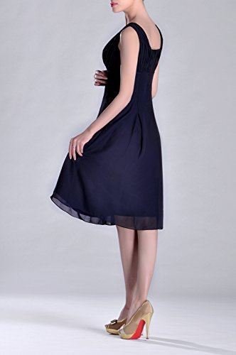 Navy Mother Special Knee Pleated the Dress Occasion Formal Blue Brides of Length Bridesmaid qBX1w6PX