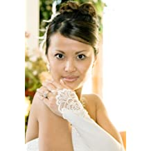 WHITE Formal Below The Elbow Fingerless Bridal Gloves