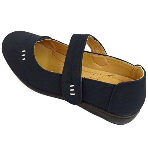 Damen Blau zum Reinschlüpfen Pumps Bequem Works Lässig Elegant Komfort Keilabsatz Schuhe Größen 3-8