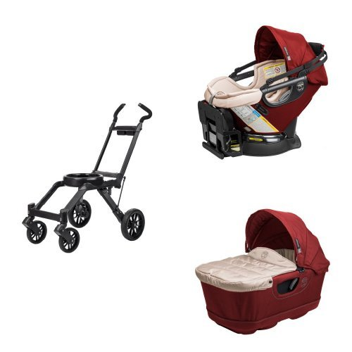 Orbit Baby Infant Travel Collection - G3 Bassinet and Car Seat, Ruby