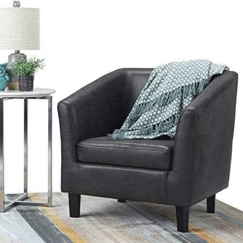Simpli Home Merlow 30 inch Wide Mid Century Modern Tub Chair