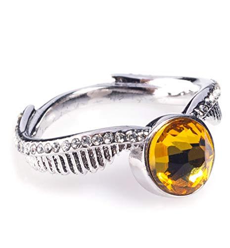 Swarovski Crystal Embellished Harry Potter Golden Snitch Ring