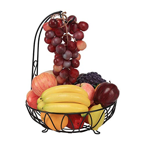 Fruit Bowl With Grape Hook For Fruits And Vegetables