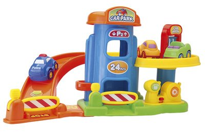 My First Garage Toy Car Garage For Kids Including 3 Chunk...