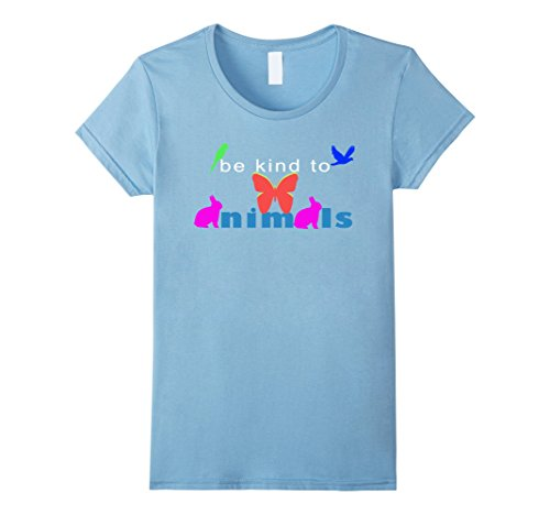 [Women's Be kind animals week tee shirts Medium Baby Blue] (Parrot Costume Female)