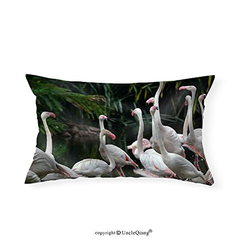 VROSELV Custom pillowcasesFlamingos - Fabric Home Decor(20''x30'') by VROSELV