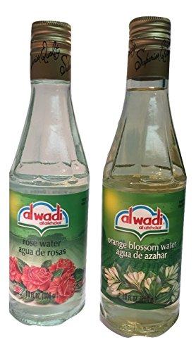 Al Wadi Orange Blossom & Rose Water Bundle - 10 oz Bottle of Each -