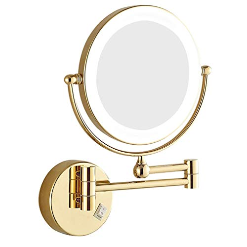 JPROCE Bathroom Shaving Mirrors Make Up - Wall Mounted Lighted LED Illuminated -