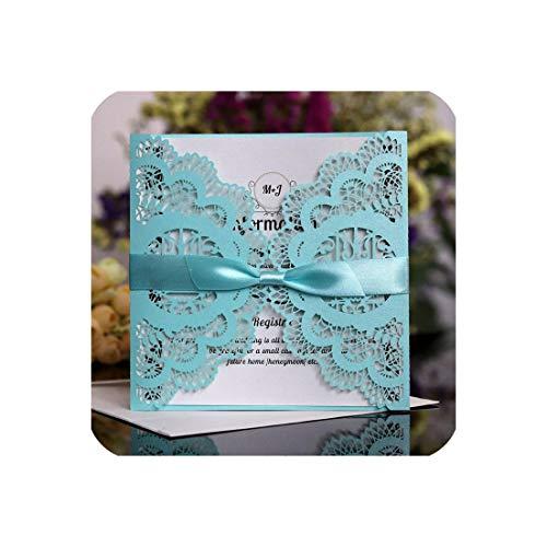 10pcs European Style Wedding Invitation Laser Cutout ()