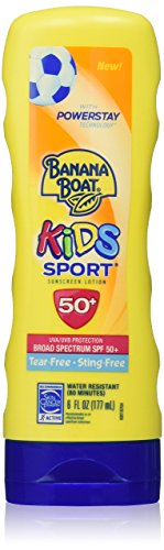 Banana Boat Kids Sport Tear-Free, Sting-Free Broad Spectrum Sunscreen Lotion, SPF 50+ - 6 Ounce