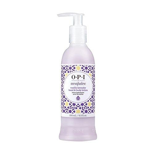 - OPI Avojuice Hand Lotion, Vanilla Lavender, 8.5 Fl Oz