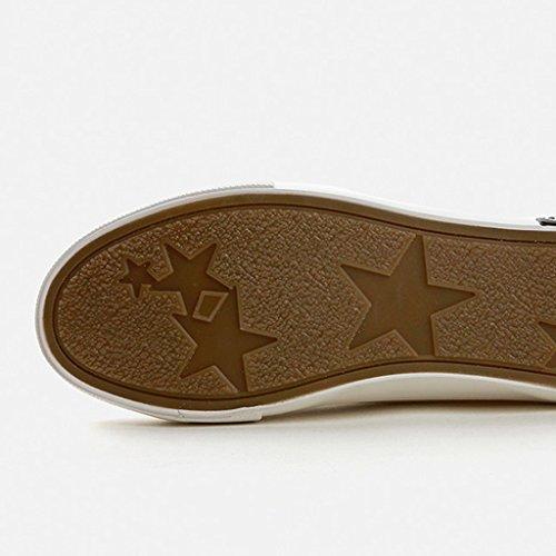 Mode Des De La Noir 40 couleur Bande Plates Toile Blanc Respirant Velcro Taille Occasionnels Chaussures Sneakers Femmes Élastique Shi YwxIXn