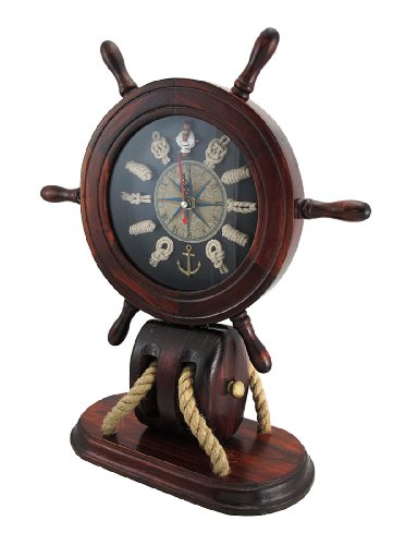 and Nautical Knots Mantel Clock ()