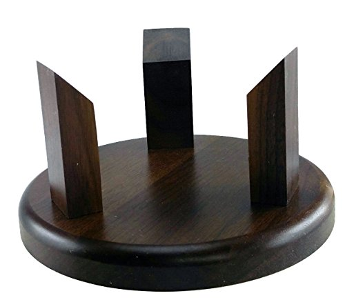 (Decade Awards Solid Walnut Football/Basketball | Soccer Ball Stand - Holder - Display)