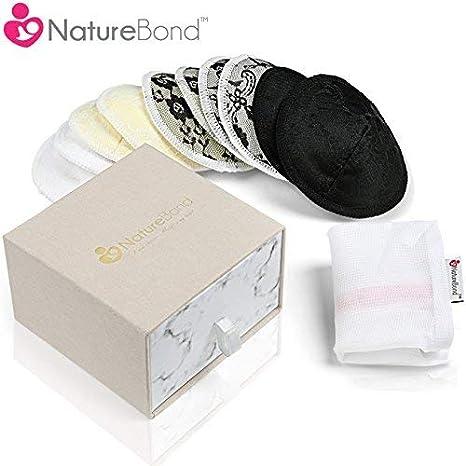 NatureBond Almohadillas de Lactancia Bambú Orgánicos para Pérdida ...