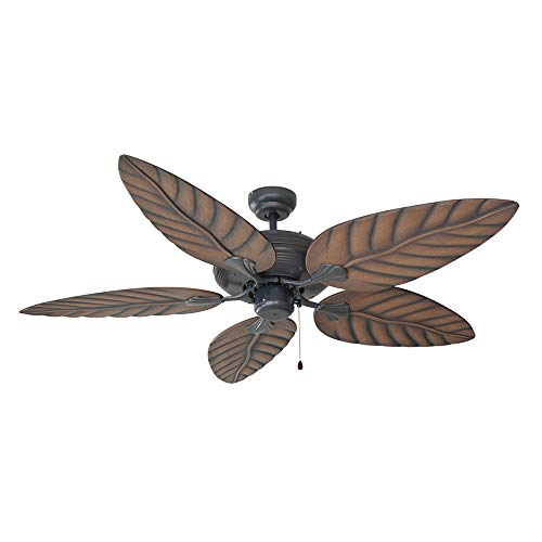 Design House 154104 Martinique Indoor/Outdoor Ceiling Fan 52″, Oil Rubbed Bronze