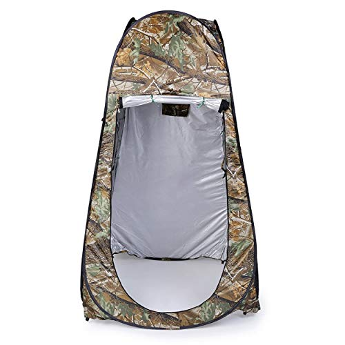 anyilon Portable Outdoor Waterproof Easy Open 180T Tent Camping Beach Shower Changing Room Foldable with Bag Camouflage
