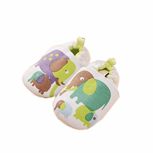 Baby Zuerst Walkers weiche Sohle Baumwolle Kleinkind -Schuhe Grüne Elefant
