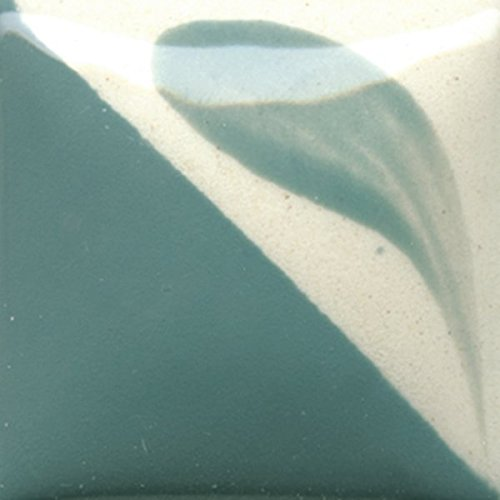 Duncan Concepts Underglaze For Ceramic Bisque, CN 152 - Bright Blue Spruce, 16 Ounce Pint Bottle