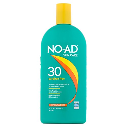 NO-AD Sun Care Sunscreen Lotion, SPF 30 16 oz Pack of 6