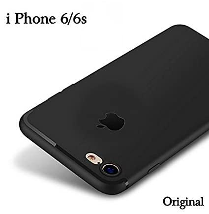 promo code 95800 7f57a YOFO Papercover Logo Cut Back Cover Case for iPhone 6/6S (Black) Ultra Thin