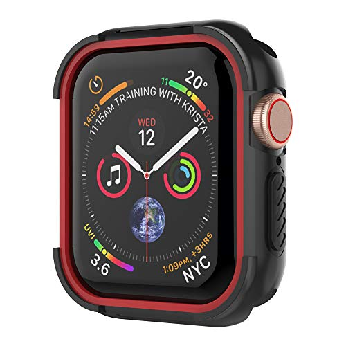 UMTELE Compatible with Apple Watch 4 Case 44mm 2018, Shock Proof Protective Rugged Case Scratch Resistant Bumper Cover Replacement for Apple Watch Series 4, 44mm