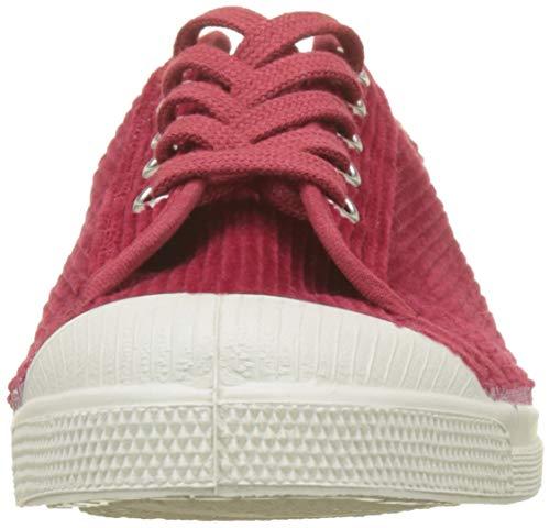 0310 rouge Romy Bensimon Corduroy Baskets Tennis Rouge Femme 0w84Yw