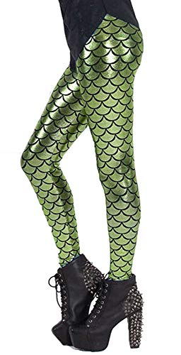 Sea Creatures Costumes - Jescakoo Fish Mermaid Scale Printed Women