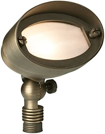Liberty LBE-13-AB 12V Weathered Brass Oval Flood Light – LED Compatible Landscape Light