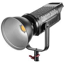 Aputure COB 300D LS C300D Daylight Balanced Led Video Light CRI95+ TLCI96+ 48000lux@0.5M Bowens Mount 2.4G Remote Control 18dB Low Noise V-Mount Plate with Canvas Bag
