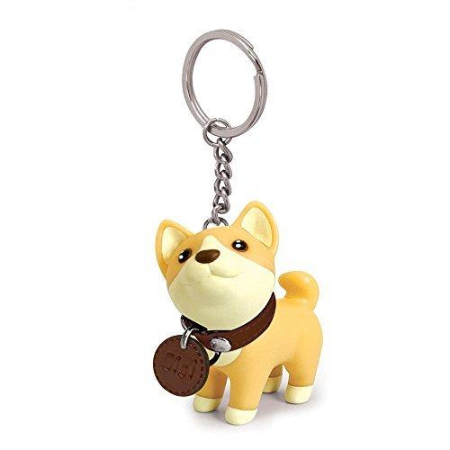 Toy Innovation Dog Keychain Charms, Shiba Inu Key Ring Cute Keychains Car Key Chain for Kids -