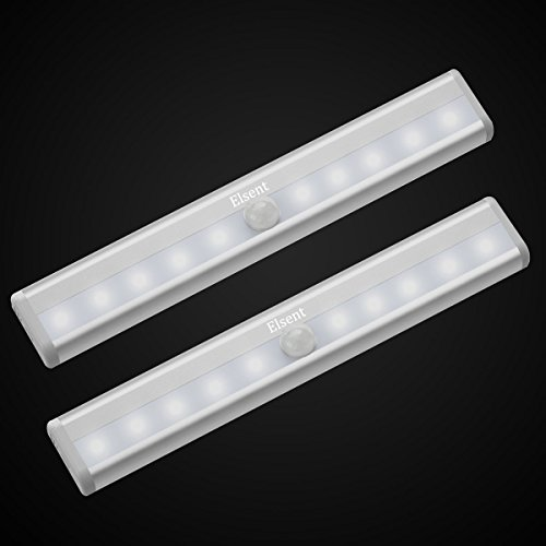 Super Bright Motion Sensor Light, Stick-on Anywhere LED Night Lights, Perfect for Cabinet, Closet, Stairway and Hallway (Battery Powered, White Glow, 2 Pieces) -