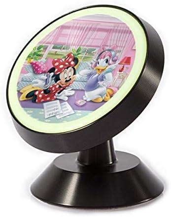 ドナルドダックの彼女は歌を聞いています 車載ホルダー 360度回転 マグネット式 粘着式 取付簡単 高級感 おしゃれ かわいい スマホホルダー