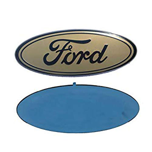 - Foxxi F-7GD 7'' x 2.8'' Gold Escape Excursion Expedition Freestyle F-150 F-250 F350 Grille Tailgate Emblem Oval Decal Badge Nameplate