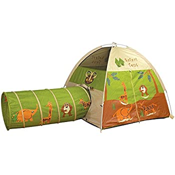 Pacific Play Tents Kids Safari Fun Dome Tent and Crawl Tunnel Combo for Indoor / Outdoor  sc 1 st  Amazon.com & Amazon.com: Pacific Play Tents Kids Hide-Me Dome Tent and Crawl ...