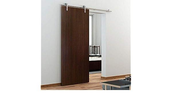 GWXFHT Herraje para Puerta Corredera Kit Accesorios para riel de riel Colgante de Puerta de Granero de 200-500 cm, Kit de Hardware de riel Deslizante de Acero Inoxidable, Carga: 100 kg: Amazon.es: