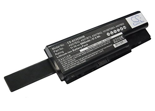 Replacement Battery for ACER Aspire 5920 Aspire 5220G Aspire 5230 Aspire 5235 Aspire 5310 Aspire 5310G Aspire 5315G Aspire 5330 Aspire 5520-5A2G16 Aspire 5520-6A2G12Mi ()