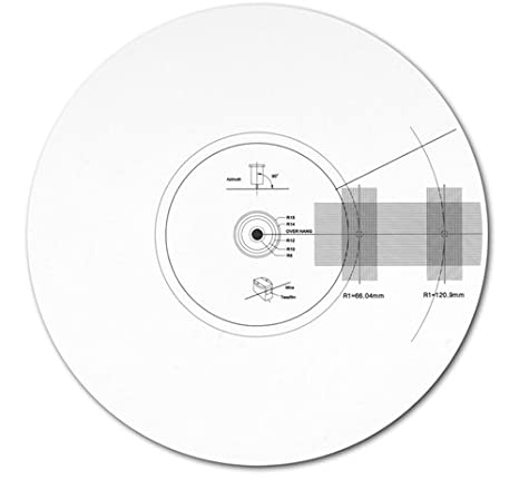 Acrylic Turntable Mat Cartridge Alignment Protractor Strobe Disc ...