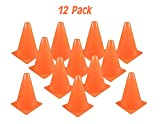 Kidsco Traffic Cones Plastic 8 Inches - Pack Of 12 Multipurpose Construction Theme Party Sports Activity Cones for Kids Outdoor and Indoor Gaming and Festive Events – By