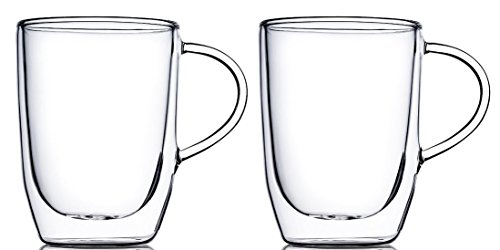 Home Fashions 15 oz Double Wall Insulated Glasses, Set of 2