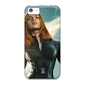 KYW1246oTrm Tpu Phone Case With Fashionable Look For Iphone 5c - Black Widow Captain America The Winter Soldier